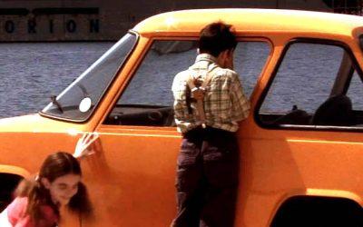 The electric car of Syros island